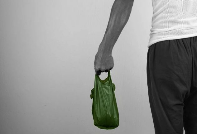 Singlet Bags Man Holding Singlet Bag